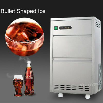 Countertop Commercial Portable Bullet Ice Maker Machine 60lbs/day Air Cool 110V