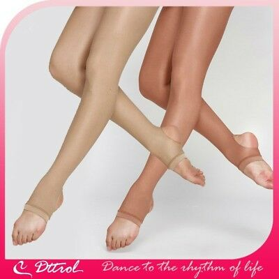 Dance Stirrup Shimmer Tights Physical culture in Toast or Light Toast
