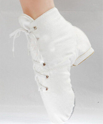 Canvas Jazz Ballet Hip-hop Boots (White)