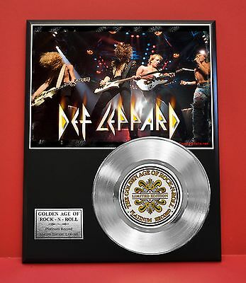 Def Leppard Ltd Edition Platinum Record Award Display