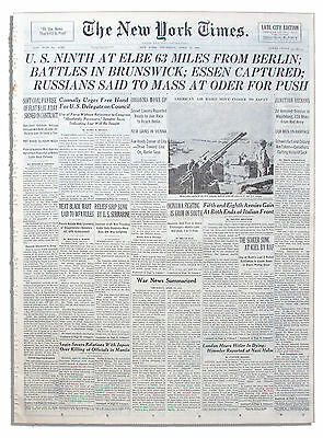 NY Times Orig U.S. & Russian Armies Race to Berlin 1st
