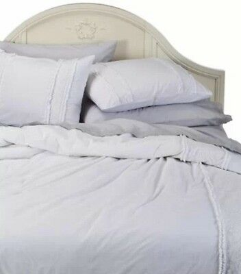 Rachel Ashwell Simply Shabby Chic Twin White Pieced Lace Mesh Duvet Cover Set