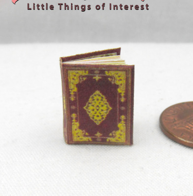 BOOK OF HOURS - The Hours of Jeanne D'Evreux Miniature Book Dollhouse 1:12 Scale
