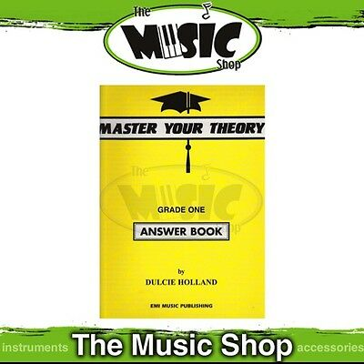 New Master Your Theory Music Tuition Book  - Yellow Grade 1 Answer Book - MYT