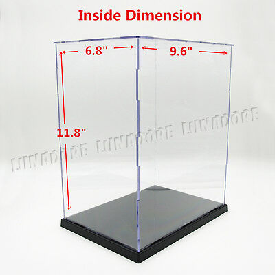 """Perspex Case Acrylic Plastic Base Display Box Self-Assembly 11.8"""" H Big Size New"""