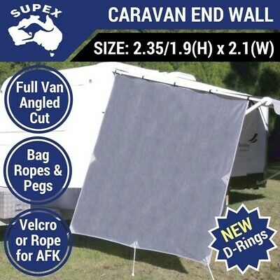 Supex Caravan End Wall Privacy Screen Side Sunscreen Sun Shade - Roll Out Awning