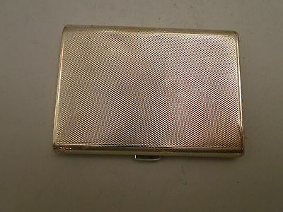 Small Sized Sterling Silver Engine Turn, Cigarette Case Art Deco 1911  Antique