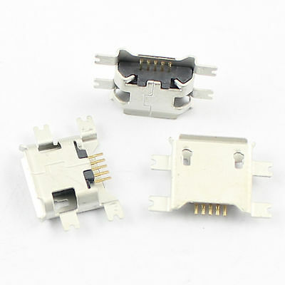 5Pcs New Micro USB B Type Female 5 Pin SMT SMD 5 Socket Connector 4  Legs