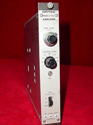 EG&G Ortec Amplifier 716A  NIM BIN Plug-In Module