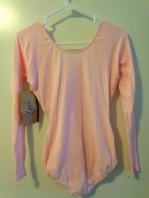 Leo's 20-57 Women's Size XLarge (14-16) Light Pink Long Sleeve Leotard