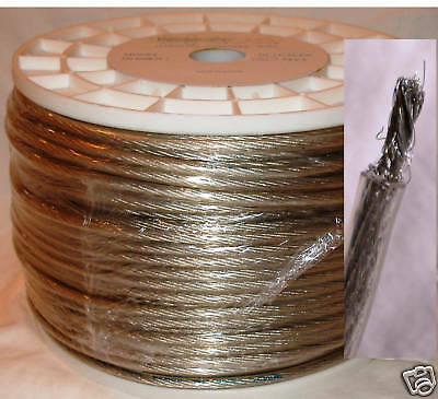 New 10 Gauge 500' Feet Power/Ground Cable 100% Copper High Performance Silver