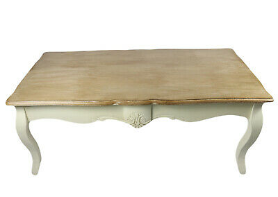 Shabby Chic Coffee Table 120cm Loire Range French Style Furniture Antique Cream