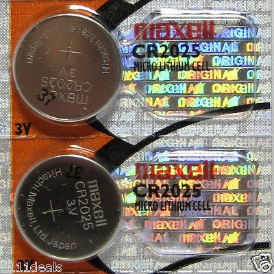 2 Maxell CR2025 2025 3V Lithium Battery From USA