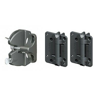 D&D Gate Lock Kit LLAAKFPK Lokk Latch Single Side Kwik Fit Non-Tensioned Hinge