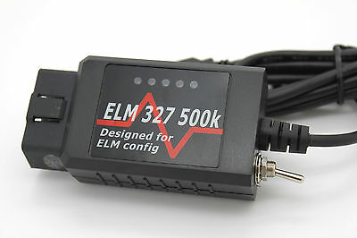Black USB Modified ELM327 Elmconfig Forscan Fits Ford Focus Mondeo Kuga S-Max