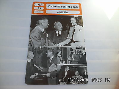 CARTE FICHE CINEMA 1952 SOMETHING FOR THE BIRDS Victor Mature Patricia Neal
