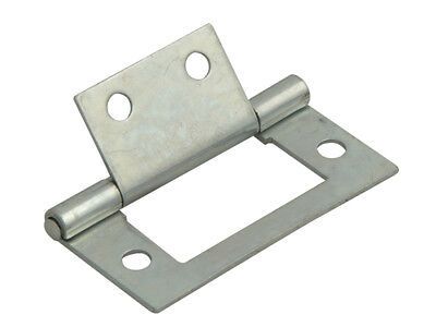 Forge FGEHNGFLZP40 Flush Hinge Zinc Plated 40mm (1.5in) Pack of 2