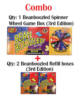 Jelly Belly Bean Boozled 4th Edition 1 Spinner Wheel Game + 2 Refill boxes