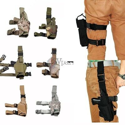 Adjustable Tactical Army Gun Revolver Drop Leg Thigh Holster Pouch Holder Colors