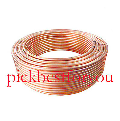 OD 3/8'' 10' Foot Soft Flexible Refrigeration Copper Capillary Tubing Coil #EE-3