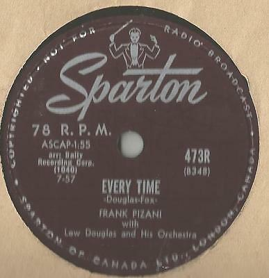 Doo Wop 78 Rpm Record Frank Pizani Every Time / Angry