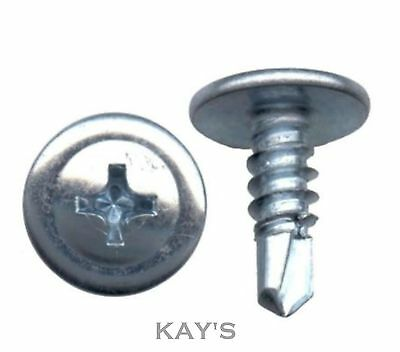 Wafer Head Drywall Dry Lining Screws, Self Drilling Or Sharp Point Zinc Plated
