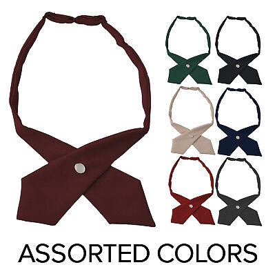 Girls Adjustable Cross Ties French Toast School Uniform ( Assorted Colors )