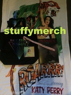 KATY PERRY RARE Prismatic Tour VIP Package Book/Towel Tote Bag Lanyard Pass RISE