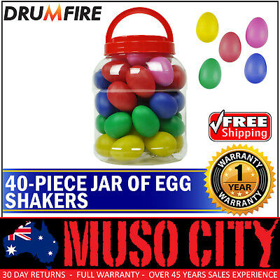 New Drumfire 40 Piece Jar of Egg Shakers Kids Percussion Toy Education