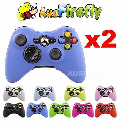 2x New Soft Silicone Skin Cover Case for Microsoft XBOX 360 Slim Game Controller