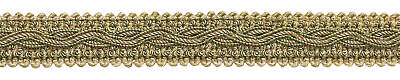 """Gold Green Taupe 7/8"""" Gimp Braid Trim Winter Meadow [5 Yards]"""