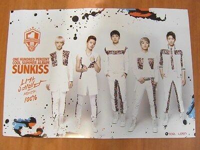 100% - Sunkiss [OFFICIAL] POSTER *NEW* K-POP