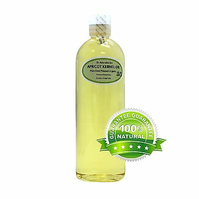 16 Oz Premium 100% Pure Organic Cold Pressed Natural Apricot Kernel Oil