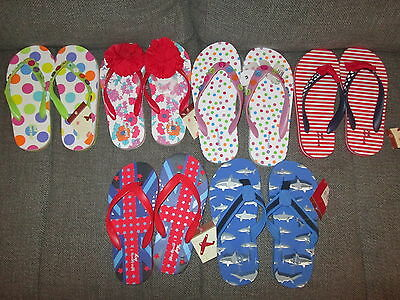 Girls & Boys John Lewis Mixed Designs Flip Flops Sandals Rose Uk Infant 4 10