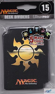 Magic the Gathering Deck Dividers 15 count pack Ultra Pro Mana Colors