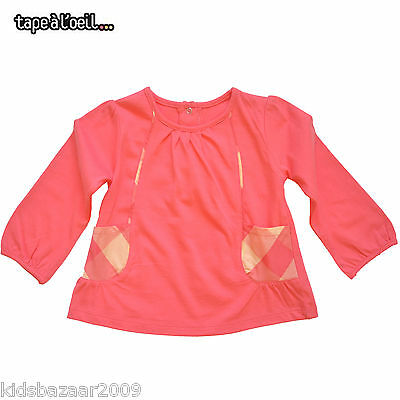 Tapealoeil Toddler Girls Red Check Trimmed Long Sleeve Smock/Top Size 18M/23M