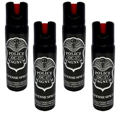 4 pack Police Magnum 4oz pepper spray Safety Lock Defense Security Protection
