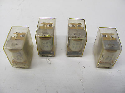 Lot Of 4 Generic Industrial Power Relays Dz-100 24V 14-Pin Used