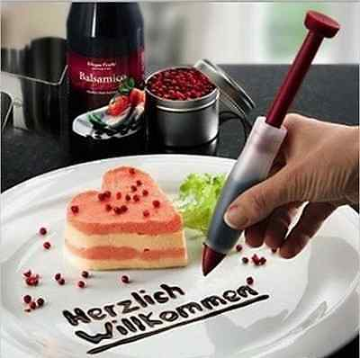 US nEW Silicone Plate Pen Cake Cookie Pastry Cream Chocolate Decorating Syringe