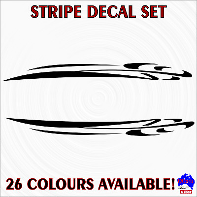 2x59cm STRIPE #6 decal stickers.Car,caravan,4wd,boat graphic.Marine grade vinyl!