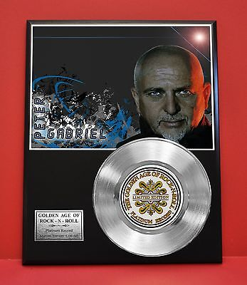 Peter Gabriel Platinum Record Limited Edition Music Award Display