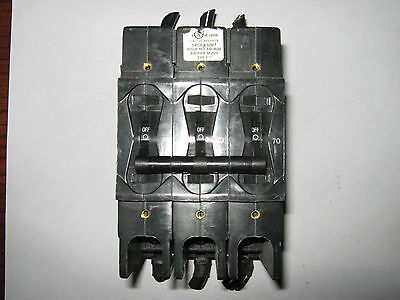 1 pc Airpax LR26229 Circuit Breaker, 70 Amp, 240 Volt, 3 Pole, Used
