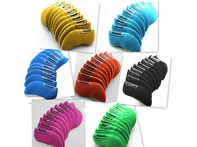 10 pcs High Quality Golf Iron Covers Multicolor Set Headcovers Neoprene Nylon