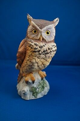 Andrea by Sadek Owl Figurine Ceramic 9339 Bird Japan