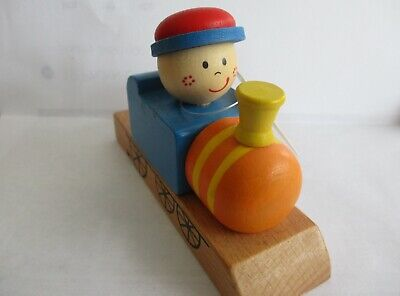 Wooden Train Whistle -  Girl Locomotive Engine - Cute Decor Or Real Play