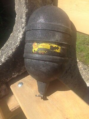 Vintage Black Red Comet Fire Extingusiher Grenade Container Steampunk Steam Old