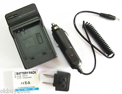 Battery+Charger For Canon PowerShot SD1200 IS SD1300 IS SD770 IS Digital Camera