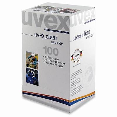 Uvex Lens / Safety Glasses Cleaning Towelettes / Wipes - 9963.000