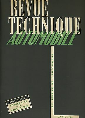 (C4) Rare Grand Format Revue Technique Automobile Citroen 2Cv