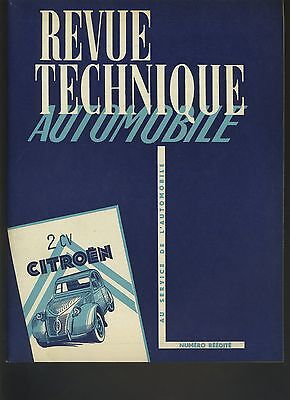 (C4) Revue Technique Automobile Citroen 2 Cv